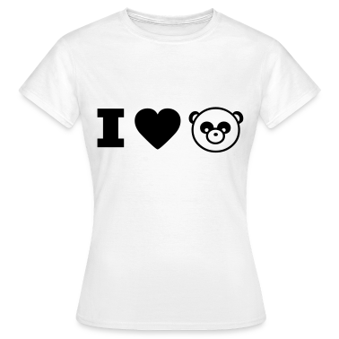 panda animal I love T-shirts
