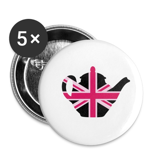 Teapot badge - Buttons small 1''/25 mm (5-pack)