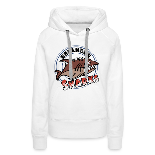 Erlangen Sharks Color Hoodie (w, weiß) - Frauen Premium Hoodie