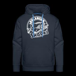 Logo Weiß auf navy Hoodie (m) - Männer Premium Hoodie