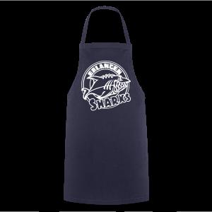 Logo Weiß auf navy Schürze - Kochschürze