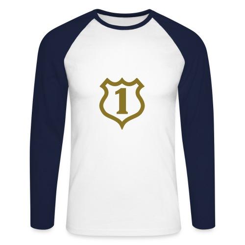 Blues no 1 shirt - Men's Long Sleeve Baseball T-Shirt