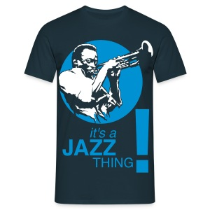 Jazz thing ! blanc/bleu - T-shirt Homme