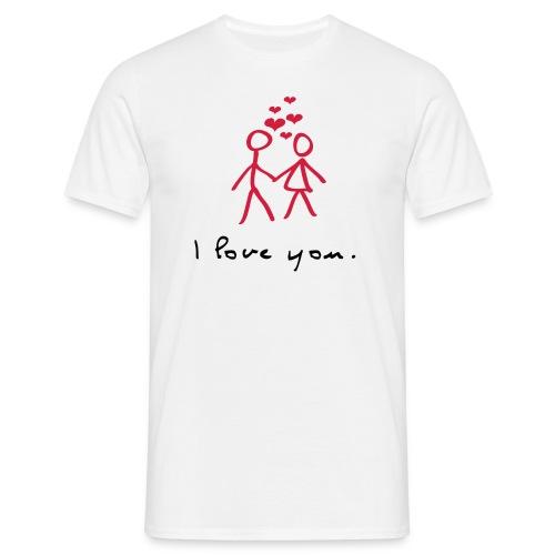 Liebesshirt - Männer T-Shirt