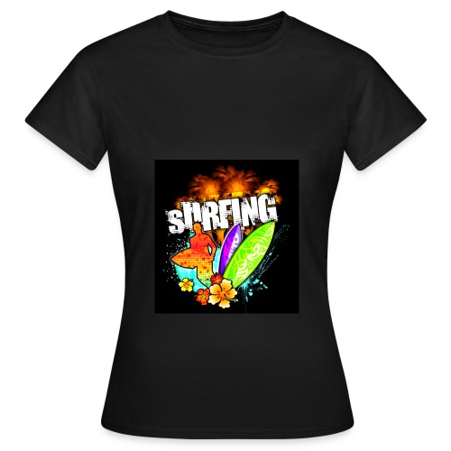 Hawaii Sunset Surfing - Frauen T-Shirt - Frauen T-Shirt
