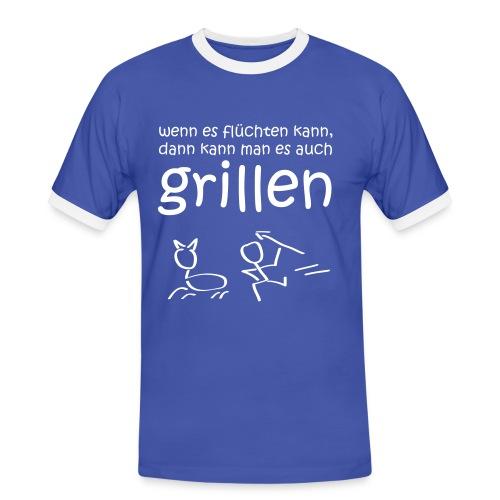 Grillen 1 - Männer Kontrast-T-Shirt