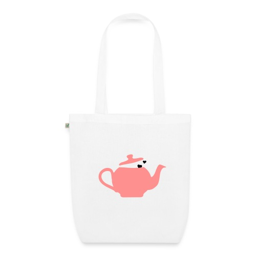 Teabag white/pink/black - EarthPositive Tote Bag