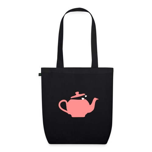 Teabag black, pink, white - EarthPositive Tote Bag