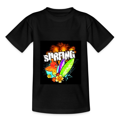 Hawaii Sunset Surfing - Kinder T-Shirt - Teenager T-Shirt