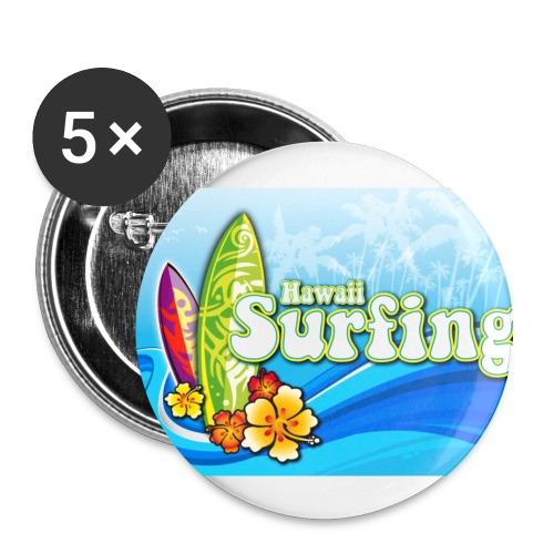 Hawaii Surfing - Anstecker - Buttons mittel 32 mm (5er Pack)