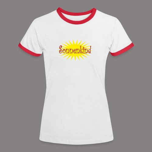 Sonnenkind - Frauen Kontrast-T-Shirt