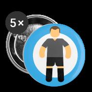 Bottoni & spille ~ Spilla media 32 mm ~ Soccer Player