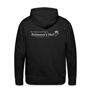 Herren Kapuzenpulli Reimann's Hof -Ponykopf klein- - Männer Premium Hoodie