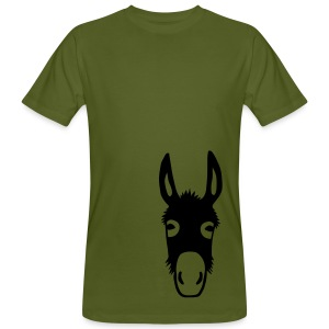 Bio Shirt Esel Donkey Maultier Pferd Tiershirt Shirt Tiermotiv - Männer Bio-T-Shirt