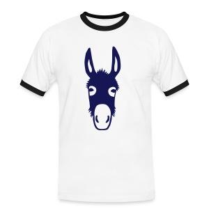 Shirt Kapuzenpullover Esel Donkey Maultier Pferd Tiershirt Shirt Tiermotiv - Männer Kontrast-T-Shirt