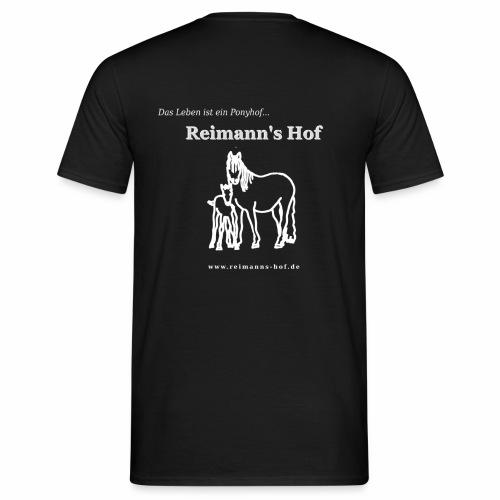 Herren T-Shirt Reimann's Hof -Stute mit Fohlen- - Männer T-Shirt