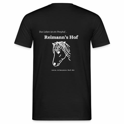 Herren T-Shirt Reimann's Hof -Ponykopf- - Männer T-Shirt