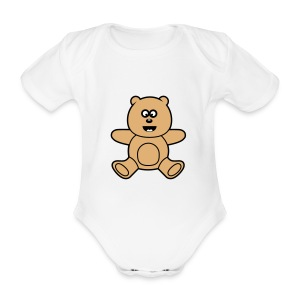 Sweet Kawaii Teddy Bear Baby Body - Baby Bio-Kurzarm-Body