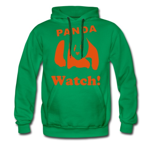 Panda watch! - Men's Premium Hoodie