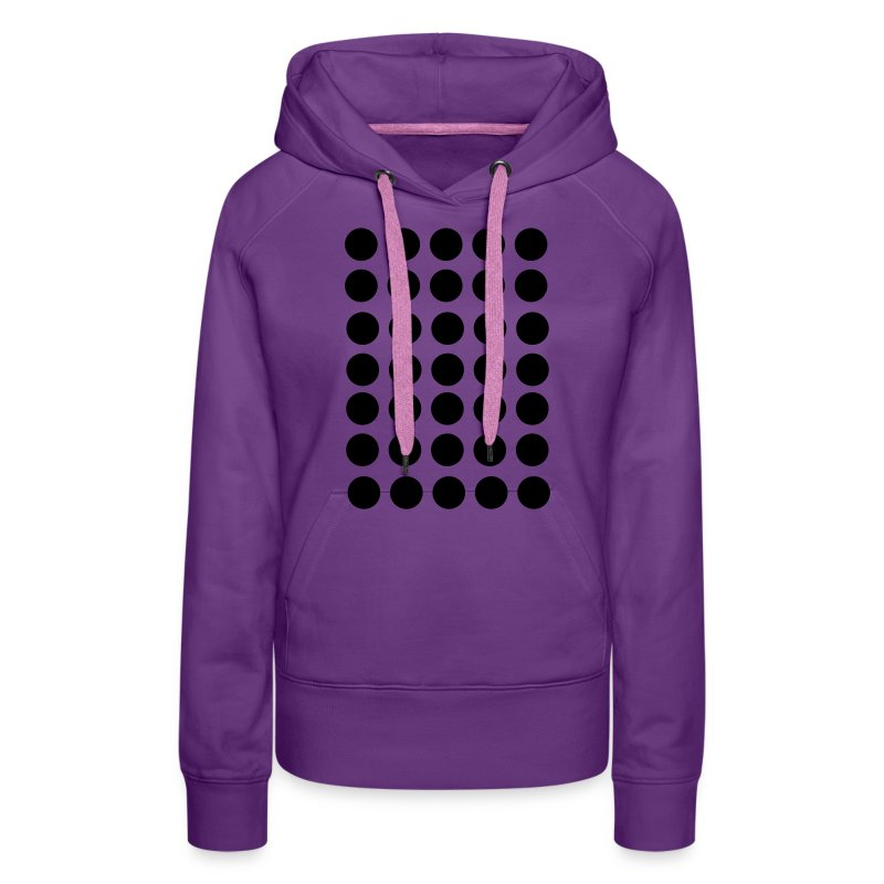 punkte schwarze punkte art fashion design dots hoodie spreadshirt. Black Bedroom Furniture Sets. Home Design Ideas
