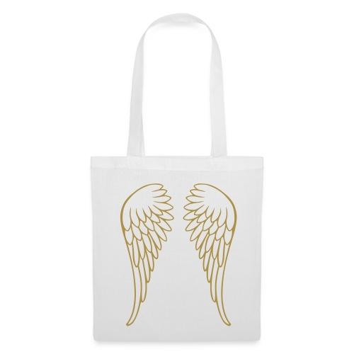 GLITTER GOLD ANGEL WINGS BAG - Tote Bag