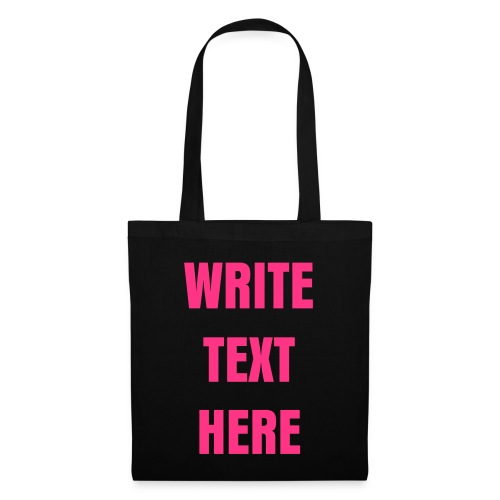 YOUR OWN NEON PINK TEXT SHOULDER BAG - Tote Bag