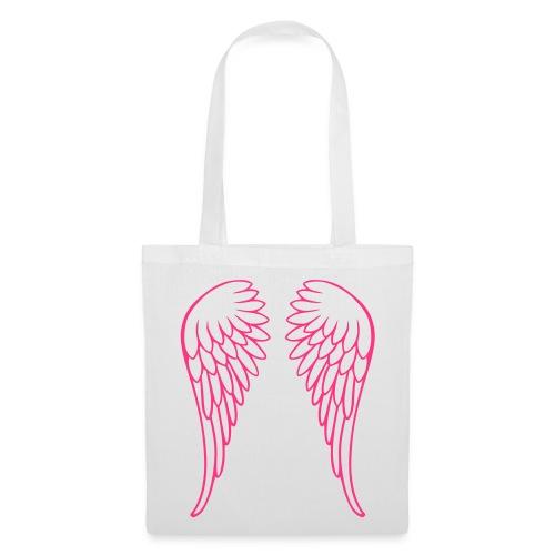 NEON PINK ANGEL WINGS ON TOTE BAG - Tote Bag