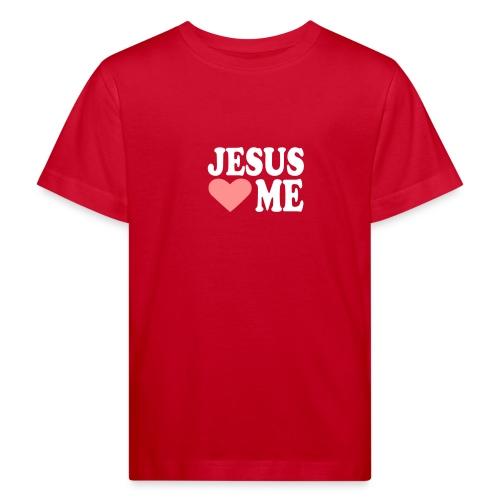 Red Jesus loves me for kids - Lasten luonnonmukainen t-paita