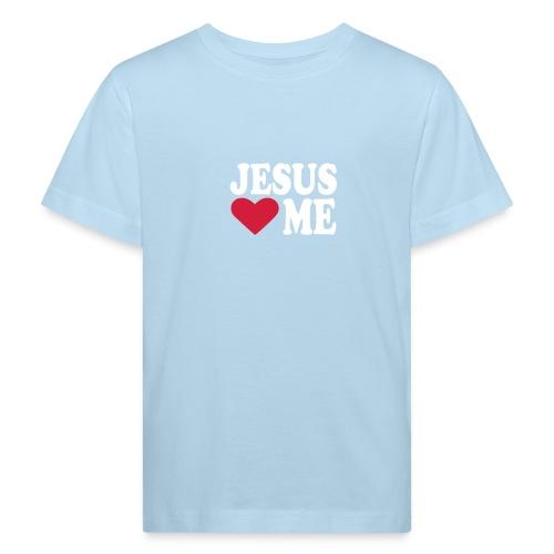 Jesus loves me -teepaita  - Lasten luonnonmukainen t-paita