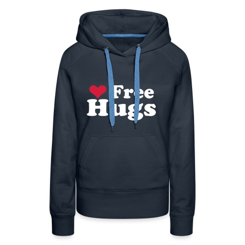 LOVE FREE HUGS - Felpa con cappuccio premium da donna