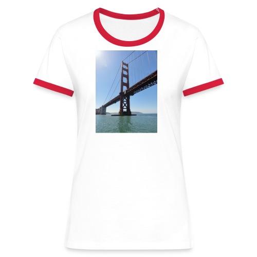 Goldengate Brigth Shirt frau - Frauen Kontrast-T-Shirt
