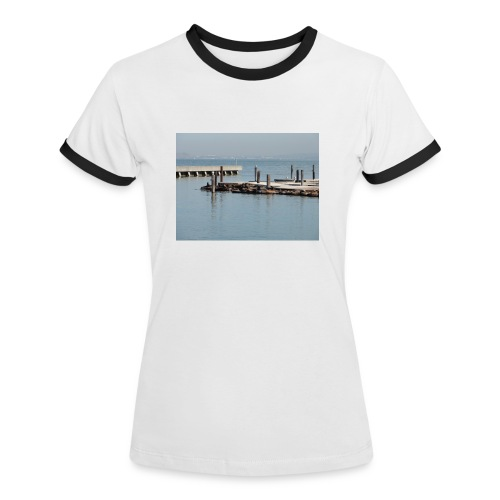 Seeloewe Shirt  frau - Frauen Kontrast-T-Shirt
