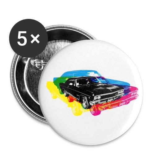 rainbow car - Przypinka średnia 32 mm