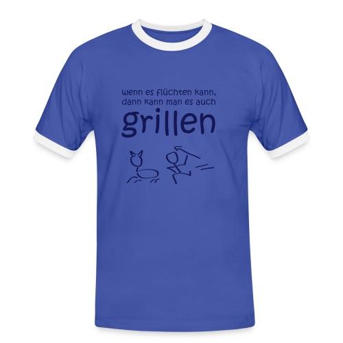 Grill Meister - Männer Kontrast-T-Shirt