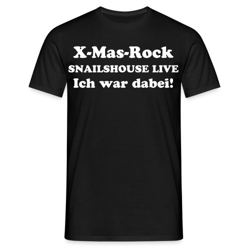 X-Mas-Rock BLACK - Männer T-Shirt