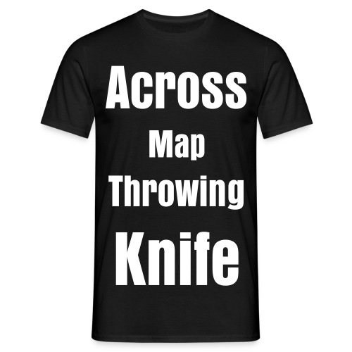 Across Map Throwing Knife - Mannen T-shirt