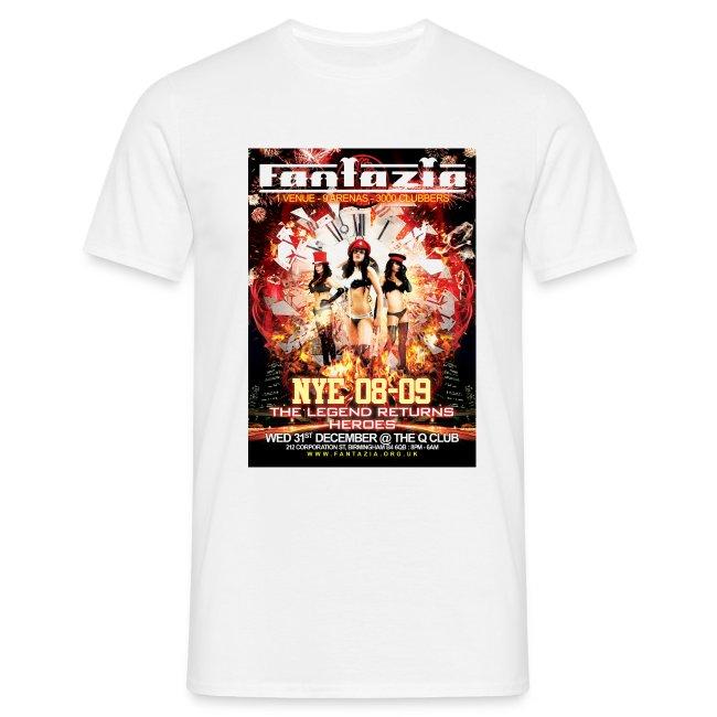 Fantazia New Year 2008 Flyer t-shirt Q Club
