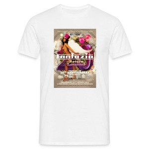 Fantazia 20th Birthday Party flyer to front and back - Men's T-Shirt
