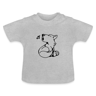 The little wolf howls Baby Shirts