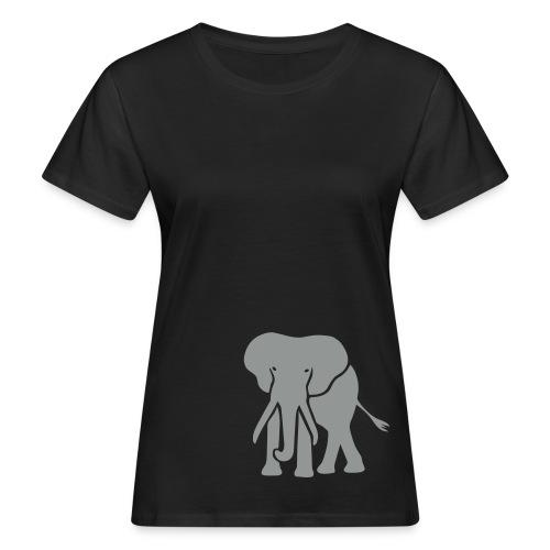 Bio Shirt Elefant Dickhäuter Elephant Rüssel Tier Tiershirt Shirt Tiermotiv - Frauen Bio-T-Shirt