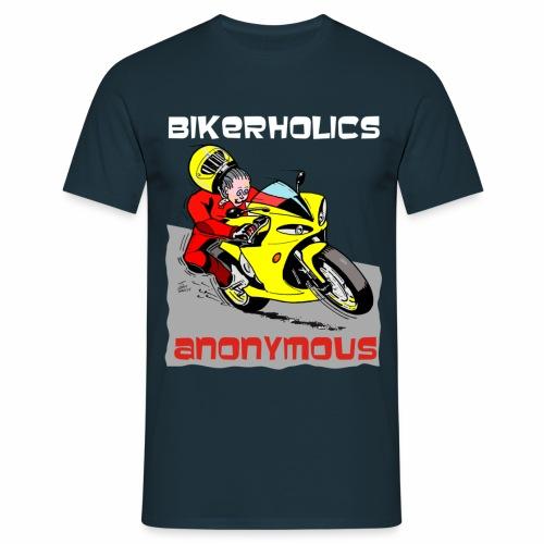 Bikerholics Anonymous - superbike - Men's T-Shirt