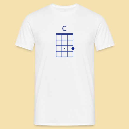 Menshirt: C-Dur (Motiv: Blue) - Männer T-Shirt