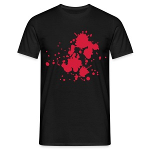 Wheel Dog Splatter  t-shirt - Men's T-Shirt
