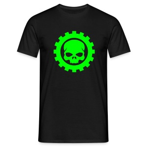Wheel Dog Gear Skull  t-shirt - Men's T-Shirt