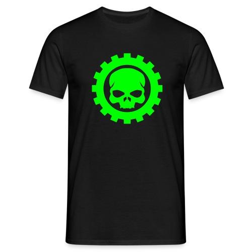 Wheel Dog Gear Skull  t-shirt - Men's T-Shirt