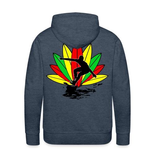 Rasta surfer sweatshirt - Men's Premium Hoodie