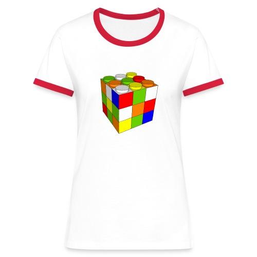Cubo Rubik juego construcción - Camiseta contraste mujer