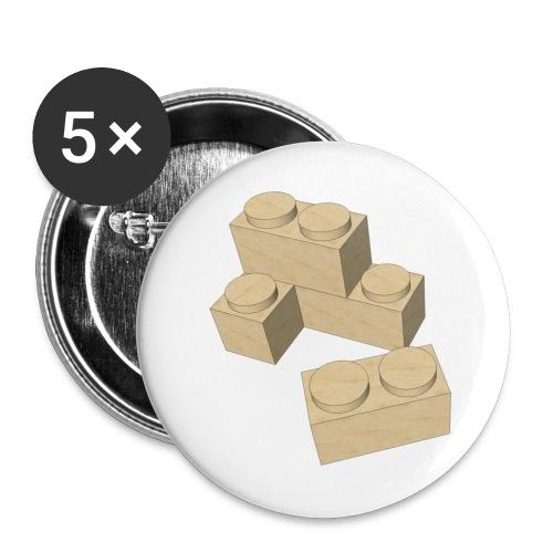 Clapas piezas juego construcción - Paquete de 5 chapas medianas (32 mm)
