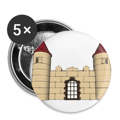 Chapas juego construcción castillos - Paquete de 5 chapas medianas (32 mm)