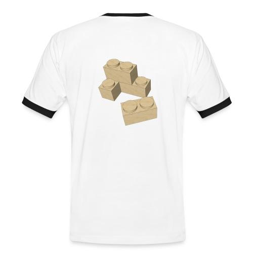 Piezas juego construcción - Camiseta contraste hombre